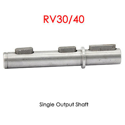RV30 RV40 Single/Double Output Shaft Worm Gear Speed Reducer Output Shaft Keyed