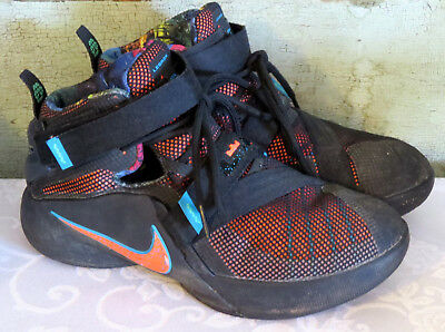 huge discount 92e32 a3524 NIKE Lebron James Soldier xl 9 Black Neon Pink High Top basketball shoes Sz  5 Y