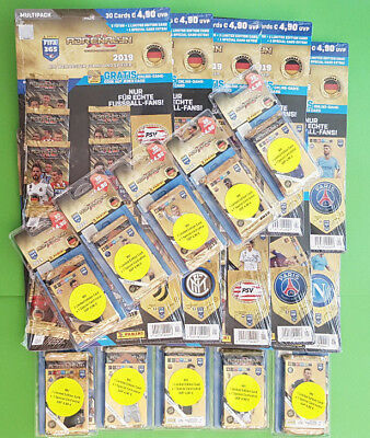Panini Adrenalyn XL FIFA 365 2019er Version alle 10 Multipacks + alle 10 Blister