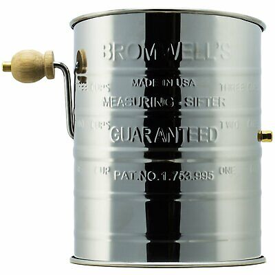 Jacob Bromwell® Legendary Flour Sifter (3-Cup) - Made in USA