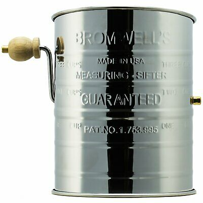 Jacob Bromwell Legendary Flour Sifter (3-Cup) - Made in USA