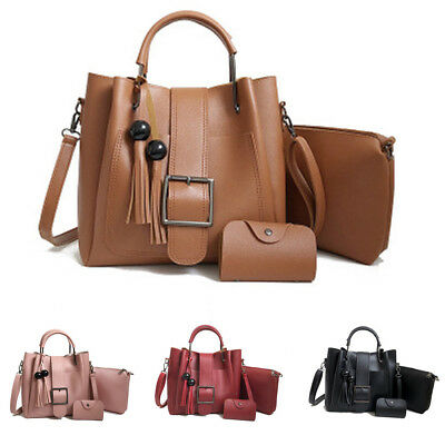3pcs Set Handbag Shoulder Bags Messenger Satchel Women Cross Body Bag 4 Color