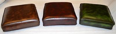 Chesterfield Leather Cushions top quality HAND MADE HERE IN ENGLAND 3 colours