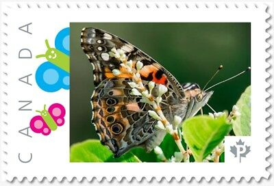 BUTTERFLY = side view = Picture Postage stamp = MNH Canada 2018 [p18-01sn15]