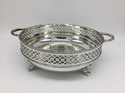 Vintage early 20th Century British Silver Plate Handled Serving Dish Bowl