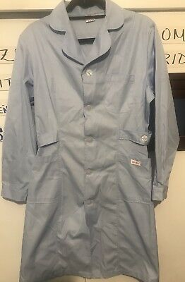 "Best Medical Lab Coat or Nurse Dress 3 Pockets 42"" Light Blue Size XL"