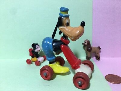 Marx Goofy Fun on Wheels plastic Disney character toy figure Mickey Mouse pal