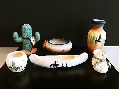 Collection Of 6 Indian Pottery All In Excellant Condition