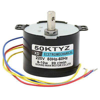 50KTYZ Synchronous Motor AC220V 10W 2.5-50RPM Permanent Magnetic AC Motor CW/CCW