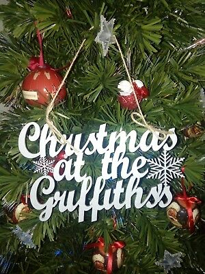 Christmas at The...Family Name Sign Silver or Gold Great Christmas Decoration