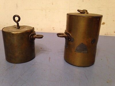 Unusual Pair Of Brass Tube Clock Weights