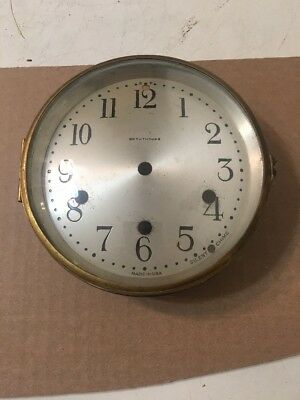Antique Seth Thomas Westminster Chime Clock Dial & Bezel Door With Glass