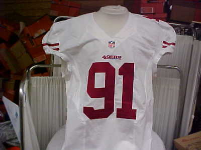 a2dc1d699 2015 NFL San Francisco 49ers Game Worn Team Issued Jersey Player  91 Size 48