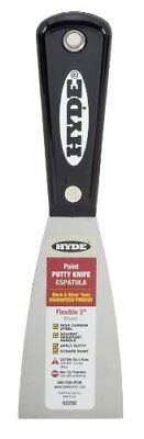 Hyde Tools 02250 2-Inch Flexible Putty Knife, Black and Silver