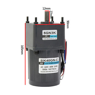 5IK40GN-C 40W AC220V Single Phase Gear Motor Slow Speed CW/CCW with Capacitor