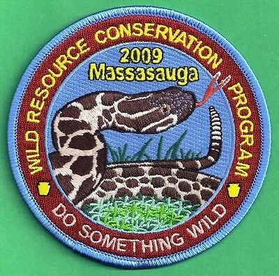 """Pa Pennsylvania Fish Game Commission Related 2009 WRCF Massasauga Snake 4"""" Patch"""