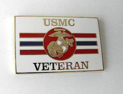 Us Marines Veteran Usmc Marine Corps Usa Lapel Pin Badge 1 Inch