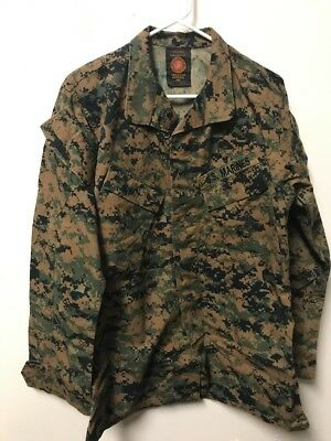 ~Us Marine Corps Mccuu Woodland Marpat Blouse Shirt Small-Lng Insect Repell Usmc