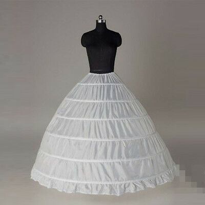 Hot Sale 6 Hoops Bridal Petticoats White Wedding Petticoat Crinoline Slip