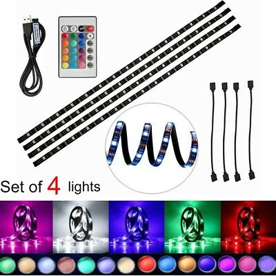LED TV USB Backlight Light Kit 4 x 50cm RGB LED Strip, 5050 SMD 60 LEDs,
