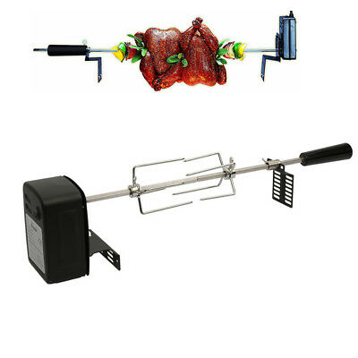 BBQ Grilling Rotisserie Spit Roaster Charcoal Pig Chicken Breef Motor Rod Kits