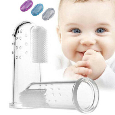 New Baby Kid Soft Silicone Finger Toothbrush & Gum Brush Clean Teeth USA