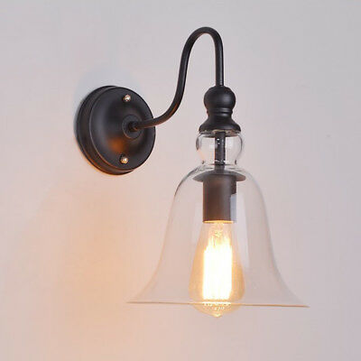 Winsoon Industrial Edison Simplicity Wall Mount Light Sconces Lamp Aged Glass