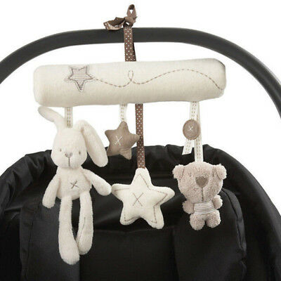 Novelty Baby Stroller Crib Bed Hanging Soft Plush Toy Rattles Baby Toy Gift Hot