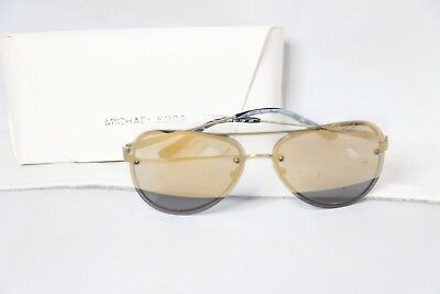 2de700e59d7f9 Michael Kors La Jolla Mirrored Rimless Aviator Sunglasses - Gold - MK1026