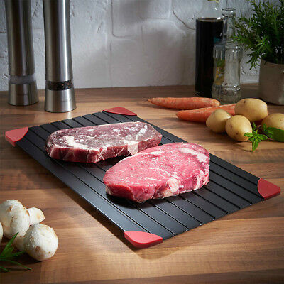 Fast Defrosting Tray Thawing Plate Defrost Meat or Thaw Frozen Kitchen Helper US