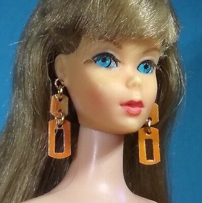 Dreamz ZOKKO! ORANGE EARRINGS Doll Jewelry VINTAGE REPRODUCTION made for Barbie