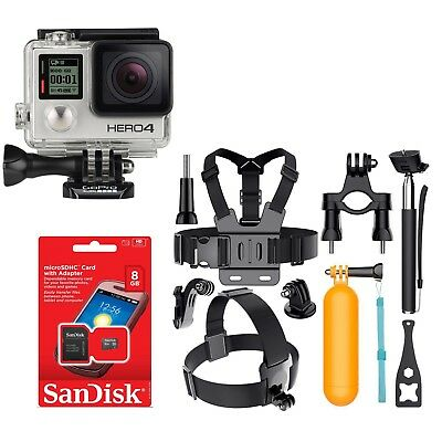 `Gopro Hero4 BLACK Edition 4K Action Camera CHDHX-401 With Lots of Accessories!
