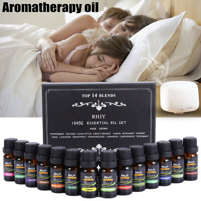 Pure Aromatherapy Oils Kit 10ml For Humidifier Water-soluble Fresh Air Oil Set