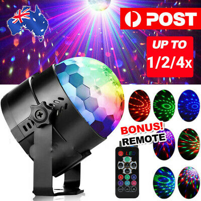 1/2/4X Disco Party DJ LED RGB Stage Effect Light Lamp Laser Crystal Magic Ball