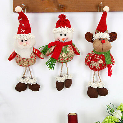 Christmas Tree Hanging Decor Parachute Snowman Santa Claus Ornaments Xmas Gifts