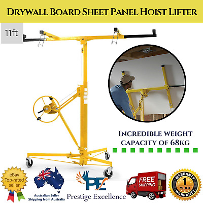 New 11ft. Plaster Drywall Board Sheet Panel Hoist Lifter 68kg. Capacity Foldable