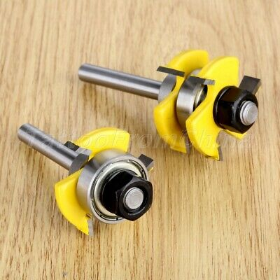 6.35mm Shank Tongue & Groove Milling Trim Panel Router Bit Woodworking Cutter 2x