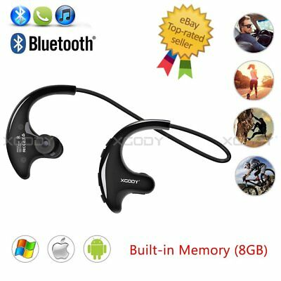 MP3 Player Bluetooth Earbuds Sports Running Wireless Headphones in Ear Headset