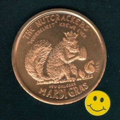 1968 SQUIRREL - Heavy Copper New Orleans Mardi Gras Doubloon Coin ( H.A.S. )