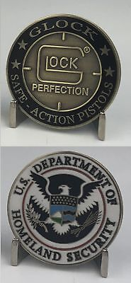 New GLOCK Challenge Coin with HSI CBP USSS Homeland Seal