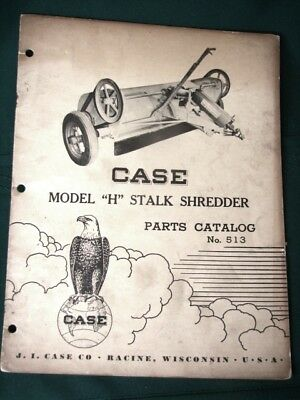 CASE Model H Stalk Shredder 1950 Parts Catalog