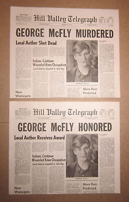 Back to the Future II - George McFly - Hill Valley Telegraph Prop Newspapers
