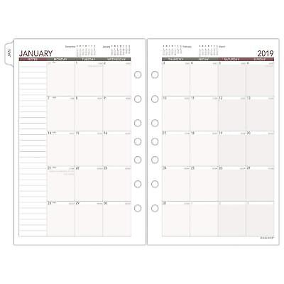 at-A-Glance Day Runner Monthly Planner Refill, January 2019 - December 2019, x 4