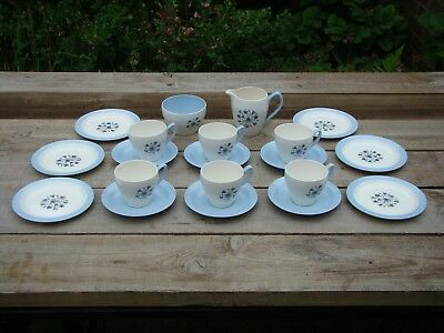Vintage Copeland Hamilton part Tea Set Cups & Saucers Side plates Jug Sugar Bowl