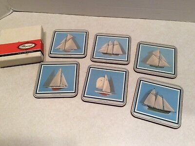 Pimpernel coaster set in box SHIPS, set of 6 different