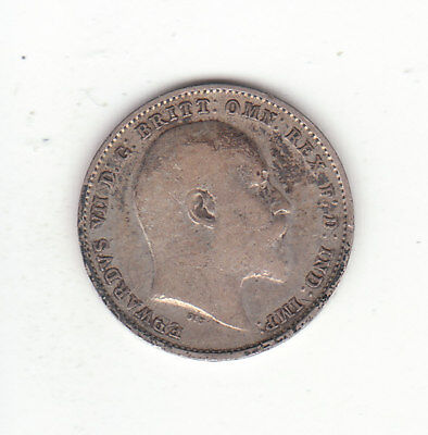 1907 Great Britain Edward VII Silver Threepence.