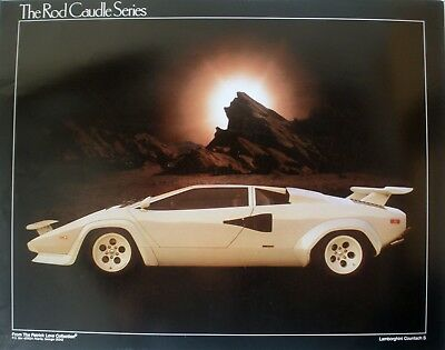 Rare Lamborghini Countach S 1980's Vintage Orig Rod Caudle Series Display Poster