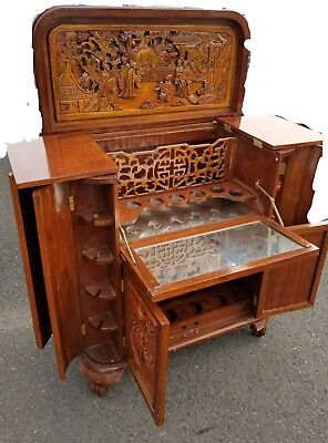 "Gorgeous Hand carved Asian bar.  42""x36""x17"""