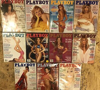 Playboy Magazines 1995 11/12 Months In Plastic Covering