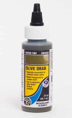 Woodland Scenics Cw4523 ~ Olive Drab Water Tint ~ Woodland Water System
